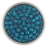 18mm Sugar snaps Alloy with cyan rhinestones KB2308 snaps jewelry