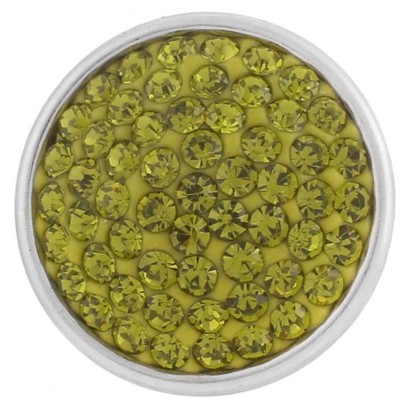 Broches de azúcar 18mm Aleación con diamantes de imitación verdes Joyas de broches KB2320