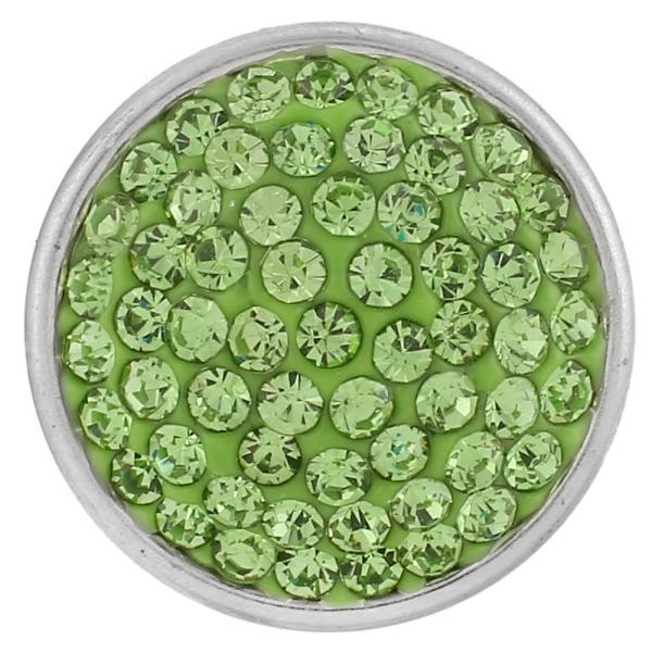 18mm Sugar Snaps Alloy mit grünen Strasssteinen KB2302 schnappt Schmuck