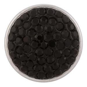 18mm Sugar snaps Alloy with black rhinestones KB2306 snaps jewelry