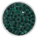 18mm Sugar snaps Alloy with dark green rhinestones KB2315 snaps jewelry