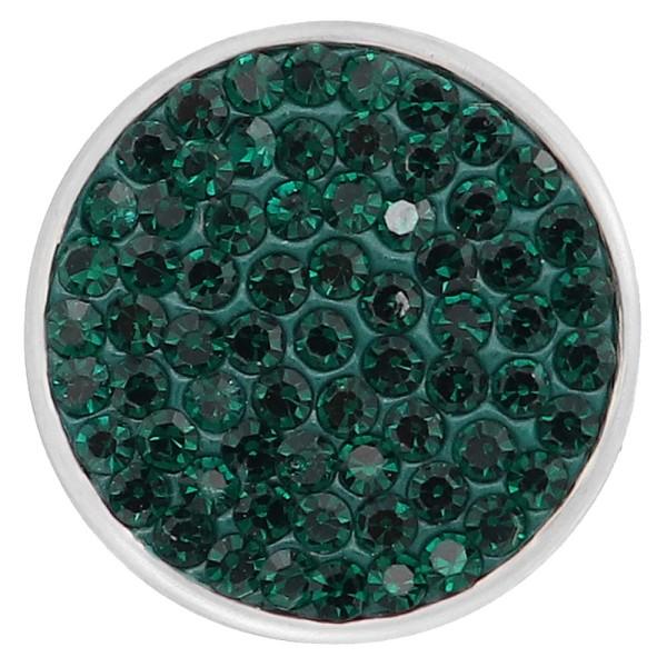 18mm Sugar snaps Alloy с темно-зелеными стразами KB2315 оснастка ювелирных изделий