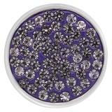 20mm ajusta poppers de diamantes de imitación morados con fondo de alta calidad