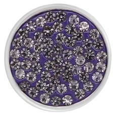 20mm snaps purple Rhinestones Chunks Poppers With High Quality Bottom