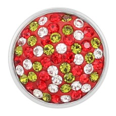 snaps button with red rhinestone KC2704 snaps jewelry