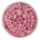 20mm schnappt rosa Strasssteine Chunks Poppers mit High Quality Bottom
