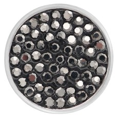 20mm snaps gray Rhinestones Chunks Poppers With High Quality Bottom