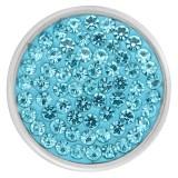 20mm-Druckknöpfe mit hellblauen Strasssteinen und hochwertigem Boden