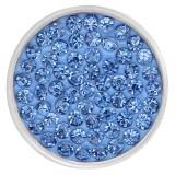20mm schnappt blaue Strasssteine Chunks Poppers mit hochwertiger Unterseite