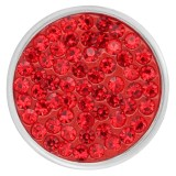 20mm ajusta Popper de pedazos de diamantes de imitación rojos con fondo de alta calidad