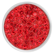 20mm snaps Red Rhinestones  Chunks Poppers With High Quality Bottom
