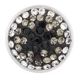 18mm Broches de azúcar gris Aleación con diamantes de imitación KB2413-AO broches de joyería