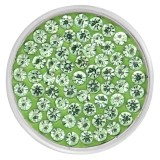 20mm reißt grüne Rhinestones Chunks Poppers mit hochwertigem Boden