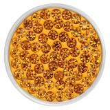 20mm schnappt gelbe Strasssteine Chunks Poppers mit hochwertiger Unterseite