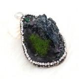 Натуральный Тайный Садовый камень Подвеска из колье