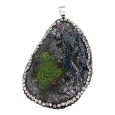 Natürlicher Secret Garden Stein Anhänger der Halskette