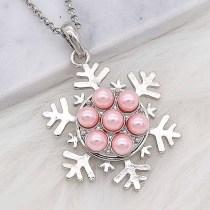 20MM chapado en plata chapada con perla rosa KC8246