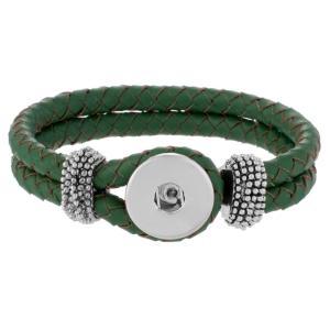 Зеленые натуральные кожаные браслеты нового типа подходят с защелками