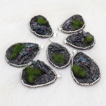 Natural Secret Garden Stone Colgante de collar