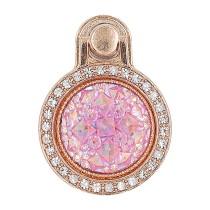 Creative gem diamond mobile phone ring bracket rose-gold diamond ring bracket mobile phone back stick bracket