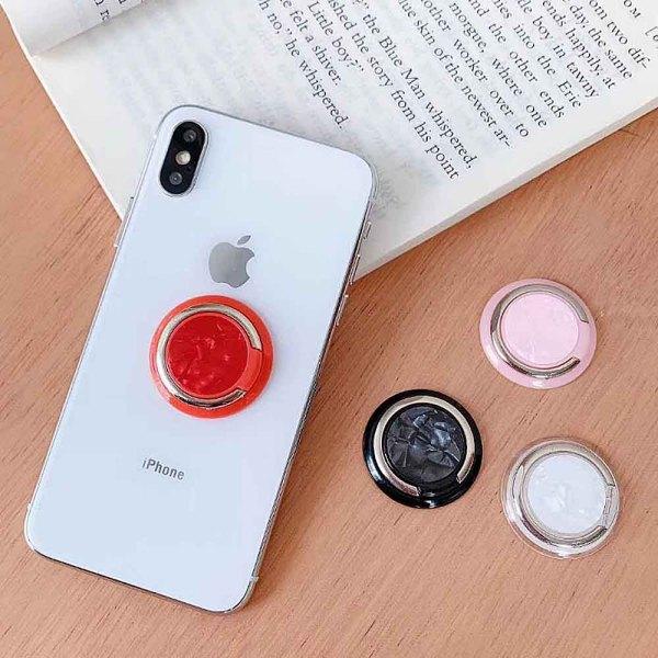 ポップソケットのような携帯電話やタブレット用のスワップ可能なグリップフィットジュエリーpopgrip white TA6031