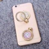 創造的な宝石ダイヤモンド携帯電話リングブラケットゴールドダイヤモンドリングブラケット携帯電話バックスティックブラケット
