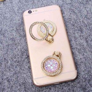 Creative gem diamond soporte para anillo de teléfono móvil gold diamond ring bracket soporte para teléfono móvil