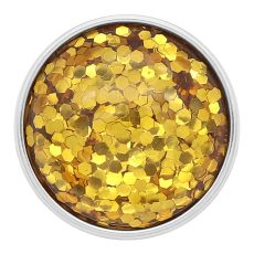 20MM design snap Silver Plated yellow Glittering resin KC2227