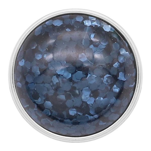 20 мм дизайн оснастки посеребренная синий блестящая смола KC2229
