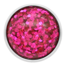 20MM design snap Silver Plated rose-red Glittering resin KC2228