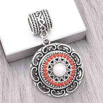 snap sliver Pendant fit 20MM snaps style jewelry KC0485