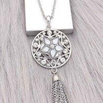 Broche de estrella 20MM Plateado con encantos de diamantes de imitación blancos KC9396 se ajusta a presión