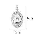 snap sliver Pendant avec strass 20MM s'enclenche bijoux de style KD0304