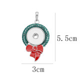 snap sliver Pendentif émail de Noël fit 20MM style bijoux KC0491