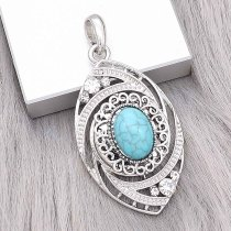 snap sliver Pendant with Rhinestone fit 20MM snaps style jewelry KD0304