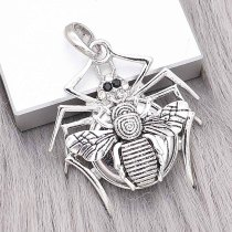 snap sliver Pendant with Rhinestone fit 20MM snaps style jewelry KC0496