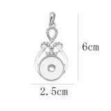 snap sliver Pendant avec strass 20MM s'enclenche bijoux de style KC0495