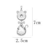 snap sliver Pendant avec strass 20MM s'enclenche bijoux de style KD0302