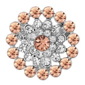 20 mm de plata chapada con diamantes de imitación naranja KC8278