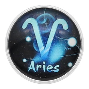 20MM Aries snap 12constellations glass KC2233