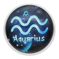 20MM Aquarius snap 12constellations glass KC2243