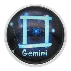 20MM Gemini snap 12constellations glass KC2235