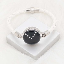 20MM snap silver Plated with Planned black enamel and Rhinestone KC8289