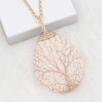 Natural stone  Pendant of necklace White Turquoise