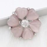 20 mm de plata chapada con corazón rosa KC8296