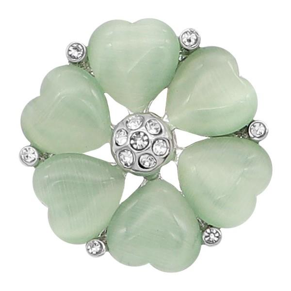 20 mm de plata chapada con corazón verde KC8297