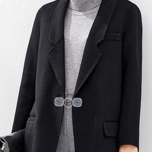 Dos broches de ropa plateados a presión broches de joyería KC1230 Duet Fashion Fastener