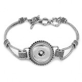 1 boutons pression bracelet argenté fit boutons pression bijoux KC0563