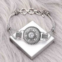 1 buttons snap silvery bracelet fit snaps jewelry KC0563