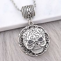20MM skull snap sliver Plated KC6605 snaps jewelry